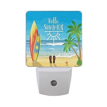 Naanle Set de 2 arena de playa de verano océano con tabla de surf de colores ...