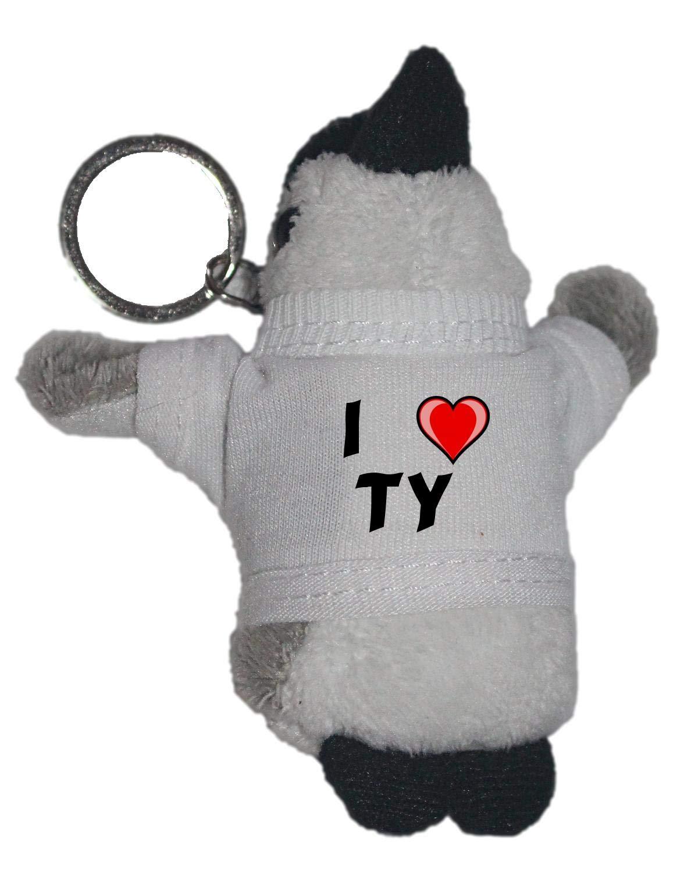 Shopzeus Pingüino de Peluche (Llavero) con Amo Ty en la ...