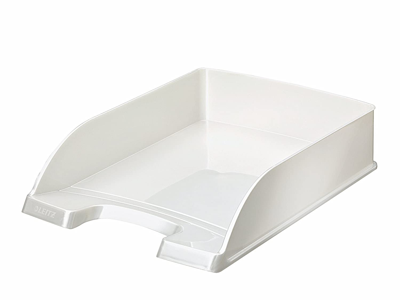Leitz 52263001 Plus Standard Wow Portacorrispondenza, Bianco Metallizzato Esselte