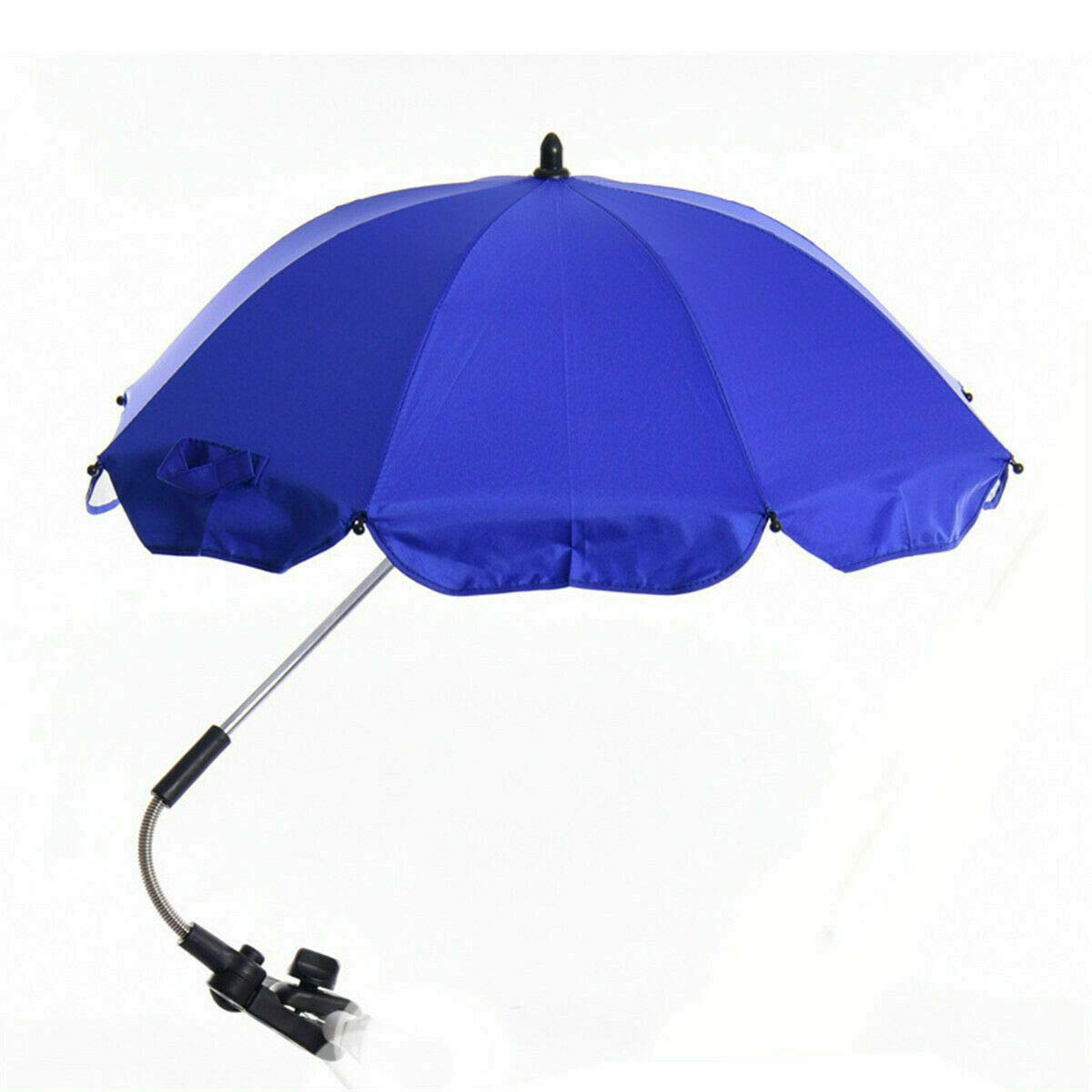 Global Supplies Present Flexible Baby Sun Umbrella Parasol Buggy Pushchair Shade in Blue