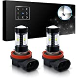 SiriusLED H8 Size DRL Fog Light LED 30W 6000k Super Bright White Projection Bulb Pack of 2