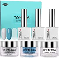 Dip Powder Nail Kit, TOMICCA Nail Dipping Powder System French Starter Kit An Excellent Replacement for Nail Polish Gel Nail Polish