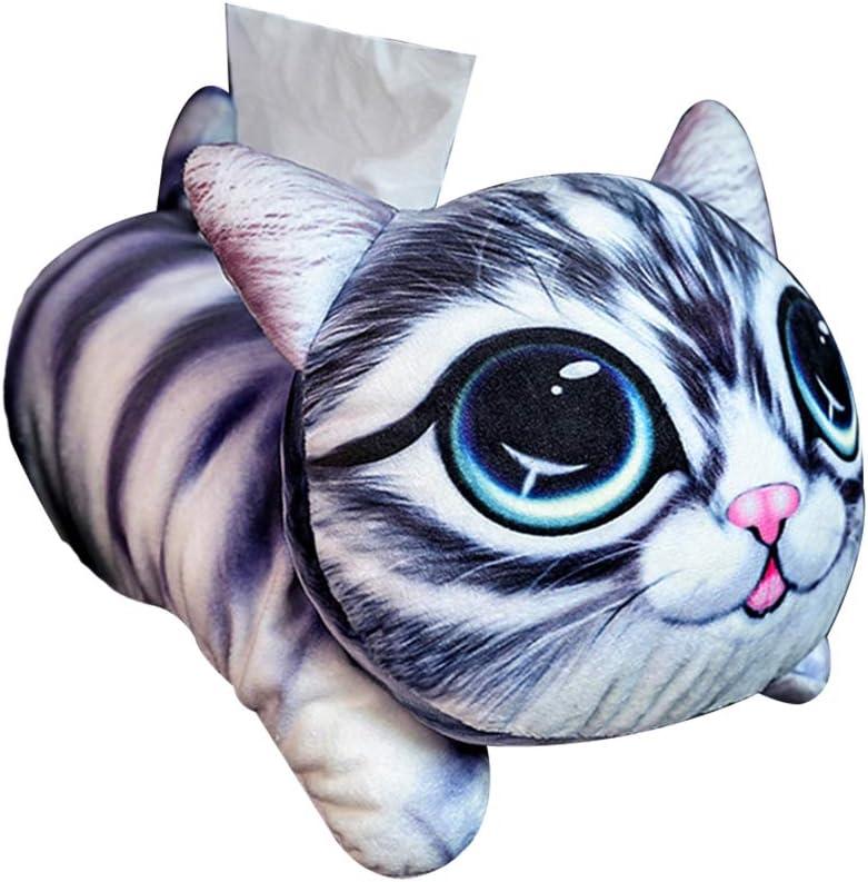VOSAREA Tissue Box Pl/üsch Katze Papier Handtuch Tube Tissue Cover Papier Halter Taschentuchspender