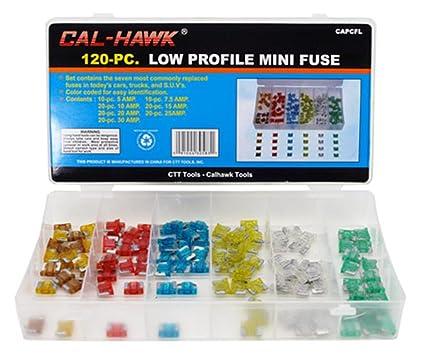 Amazon Com Cal Hawk 120 Car Truck Suv Low Profile Mini Blade Fuse