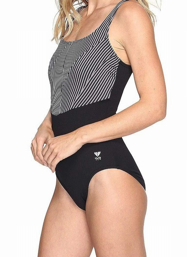 TYR Womens Monroe Strip Aqua Controlfit TAQMR7A-P