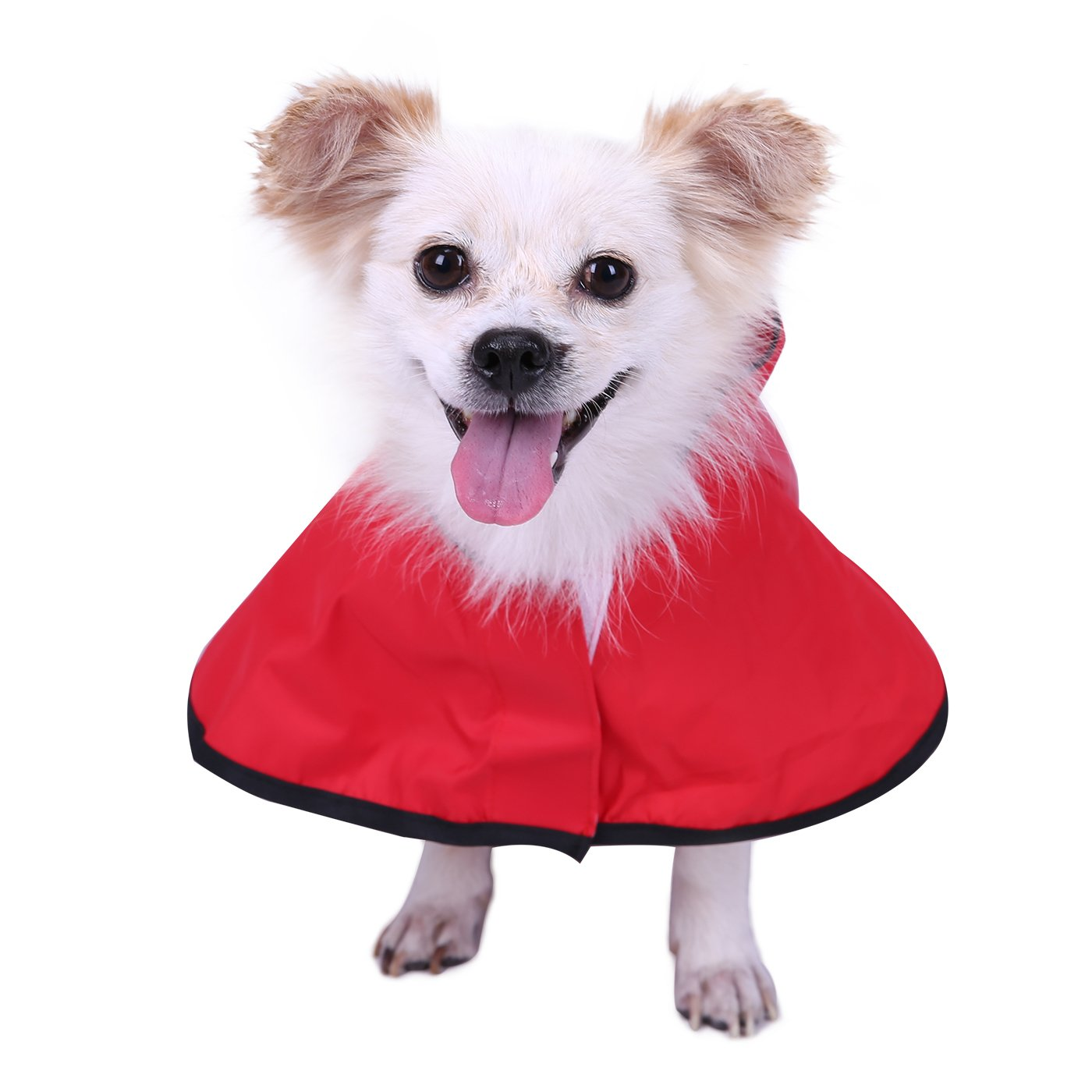 HDE Dog Raincoat Hooded Slicker Poncho for Small to X-Large Dogs and Puppies (Red, Medium) by HDE (Image #3)