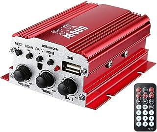 XXIAZHI,Amplificateur Audio numérique MA-700 IR Control FM MP3 MP3 en Lecture(Color:Rouge)