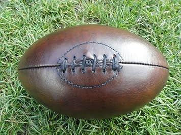 Knobs and Knockers - Balón de rugby (piel, estilo antiguo), color ...