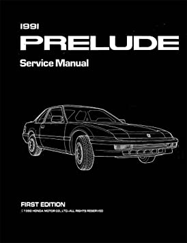 1991 honda prelude shop service repair manual book engine drivetrain rh amazon ca 1995 Honda Prelude 1991 Honda Prelude White