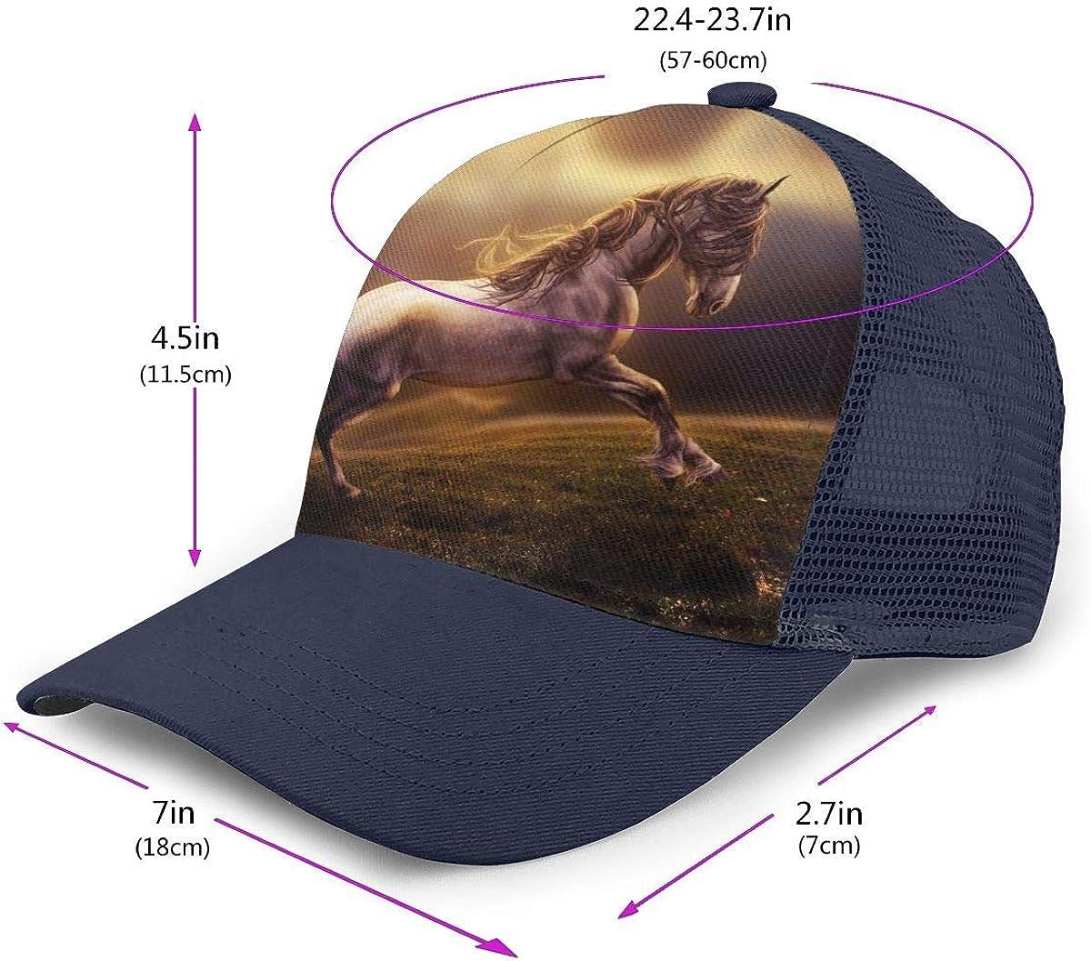 Adjustable Baseball Visor Cap,Mesh Hat Horse Men Women Athletic Hats