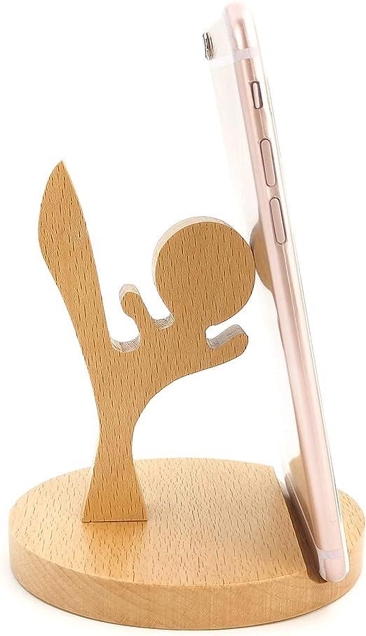 Walnut Japanese Mobile Phone Bracket Wooden Convenient Mobile Phone Stand Desktop Mobile Phone Bracket