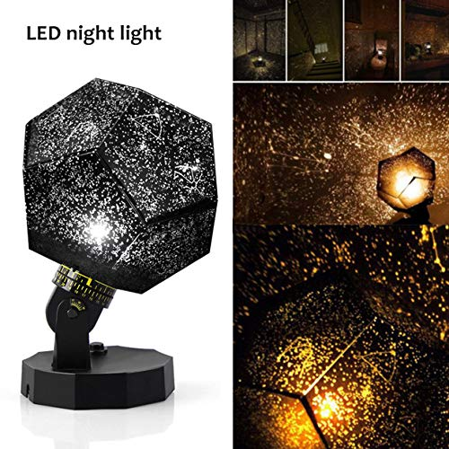 Lisnec Star Night Light Projector, DIY Sky Projection Night Lamp 12 Constellation Lights for Kid Baby Bedroom,Christmas Gift,Space Decorations for Birthday, Party, Anniversary ()