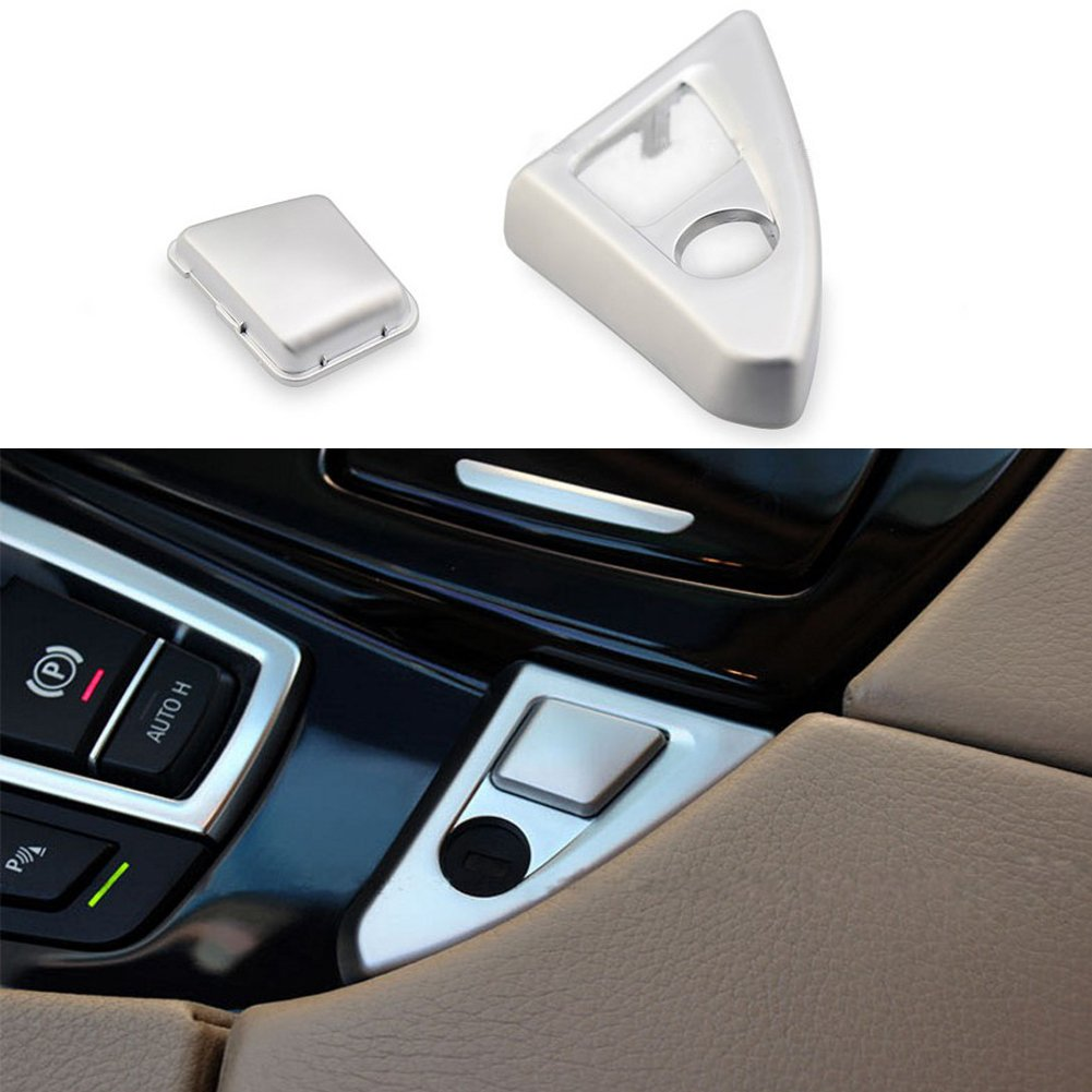 Angelguoguo Center Console Armrest Box Switch Buttons Sequins Decoration Cover for BMW 5 Series F10 F18 520 523 525 2011-2017