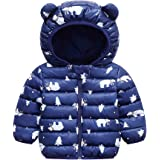 WUSENST Baby Boys Girls Winter Coats Hoods Light Puffer Down Jacket Outwear