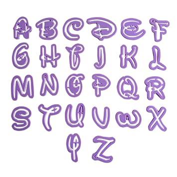 LYNCH El alfabeto letras mayúsculas en forma de pasta de azúcar que adorna el sistema Herramientas de la galleta del molde del cortador: Amazon.es: Hogar