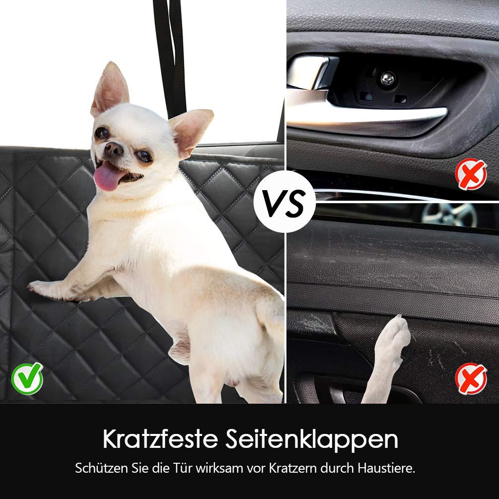 resistente a los ara/ñazos ventana visible,negro a prueba de suciedad protector para asiento de coche para mascotas Funda para asiento de mascotas a prueba de salpicaduras Petacc