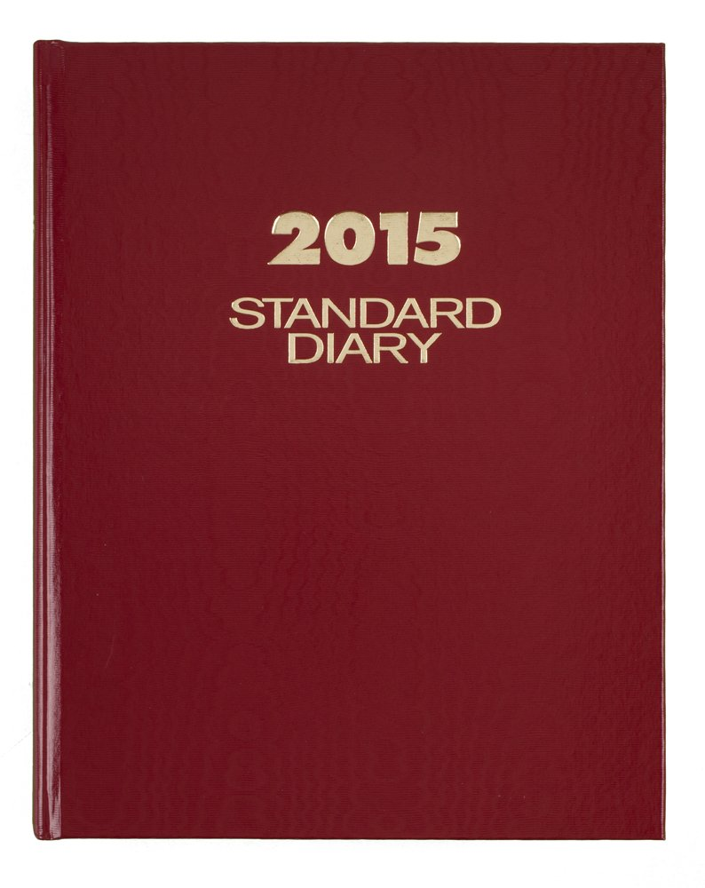 AT-A-GLANCE Standard Diary Daily Diary 2015, Hardcover, 7.5 x 9.44 Inch Page Size, Red (SD374-13) by AT-A-GLANCE (Image #1)