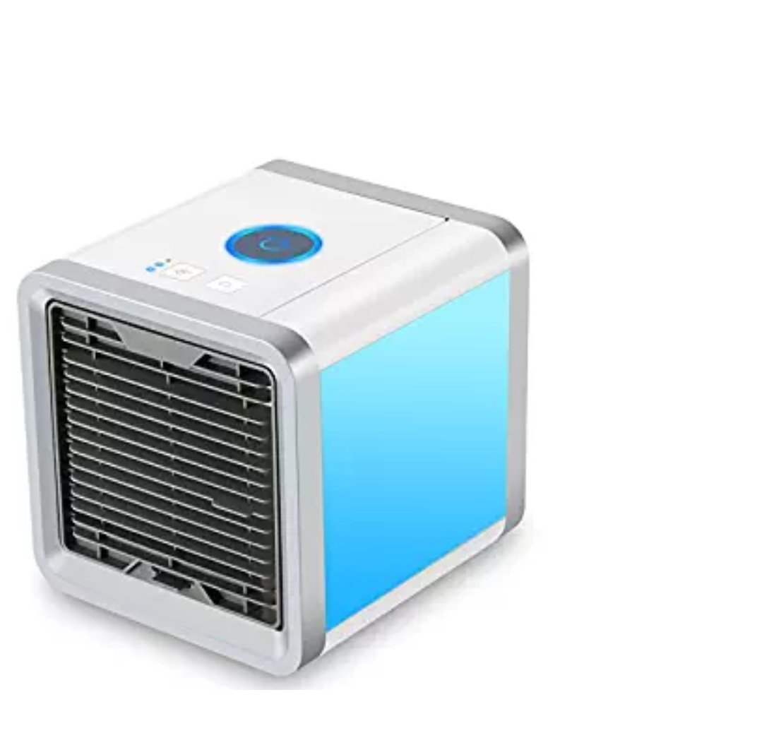 Access & Gadgets Personal Space Cooler Arctic Air 3 in 1 USB Mini Portable Air Conditioner Humidifier Purifier, 3 Fan Speed 4 Foot Cooling Area 7 Color LED Light for Bedroom Office Home Outdoor Travel