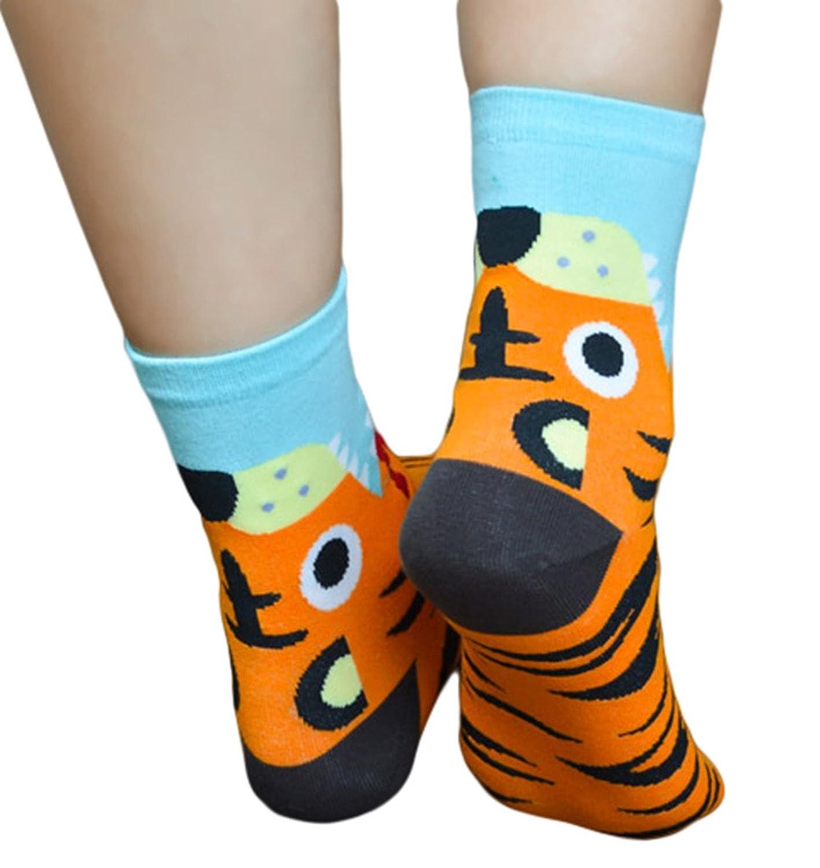 Woo2u Women Cartoon Animal Soft Cotton Korean Ankle Socks