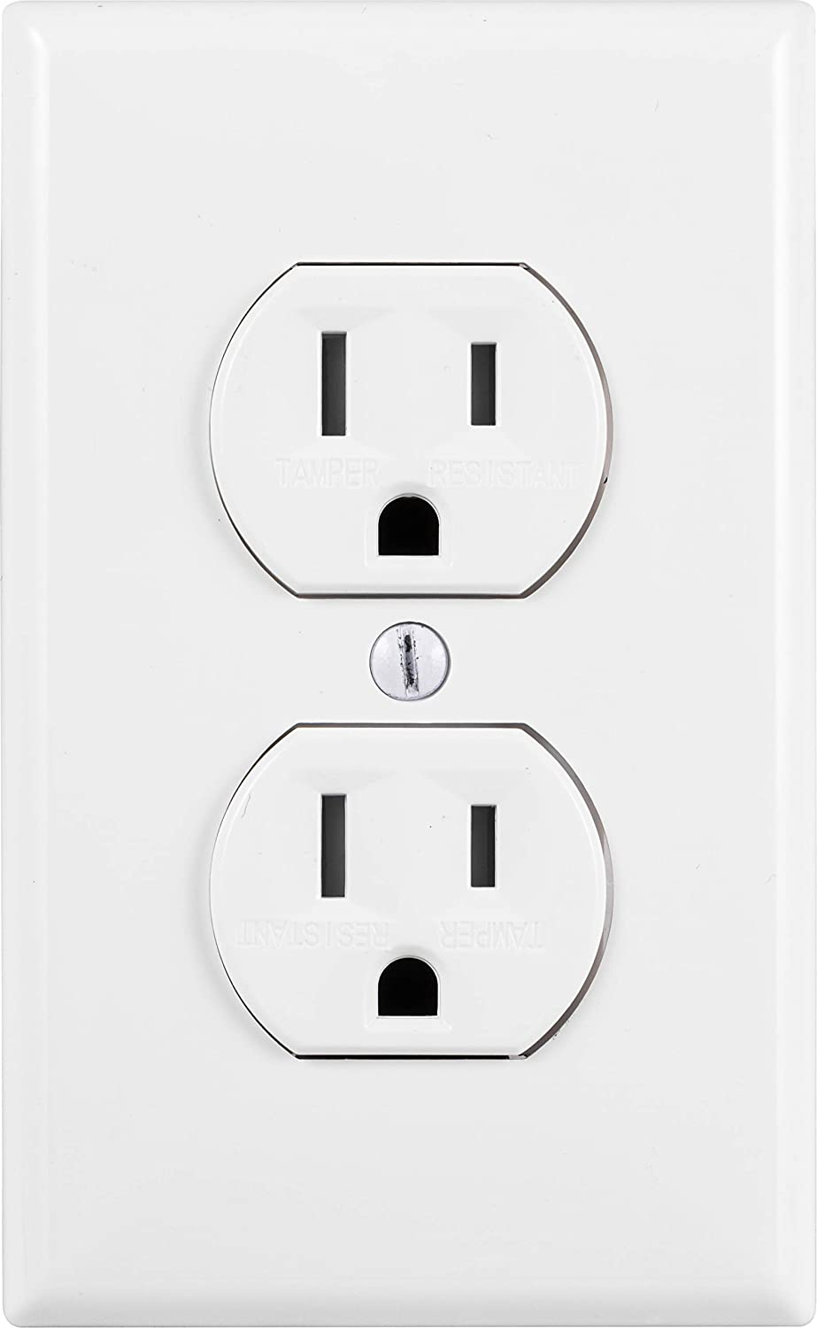 Tamper Resistant Outlets UL Listed GE Grounding Duplex Outlet Easy Install In Wall Receptacle 54263 Jasco White 15 Amp 3 Prong Electrical Socket