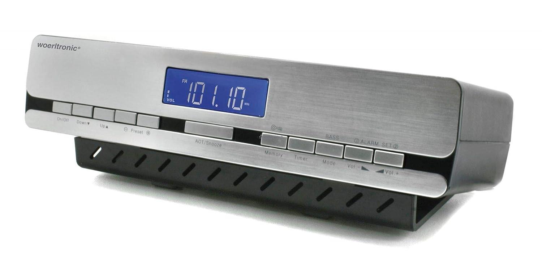 woerlt Electronic UR 2006 – Radio de Cocina con Radio Reloj controlado por Radio, Accesorio para artículo de, Plata