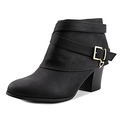 Sodi Tecap Women Round Toe Synthetic Black Ankle Boot