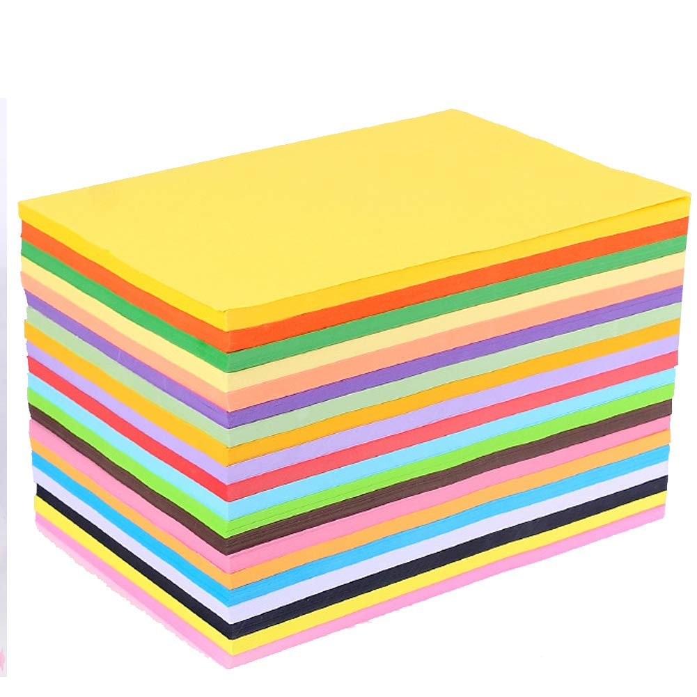 Colored A4 Copy Paper, 100 Sheets Recycled Paper Diy Folding Art Tissue For Crepe Paper 20 Different Colors, more Fun at DIY Art Craft Crafting Decorating Cut-to-size Paper(2030cm) by Pveath