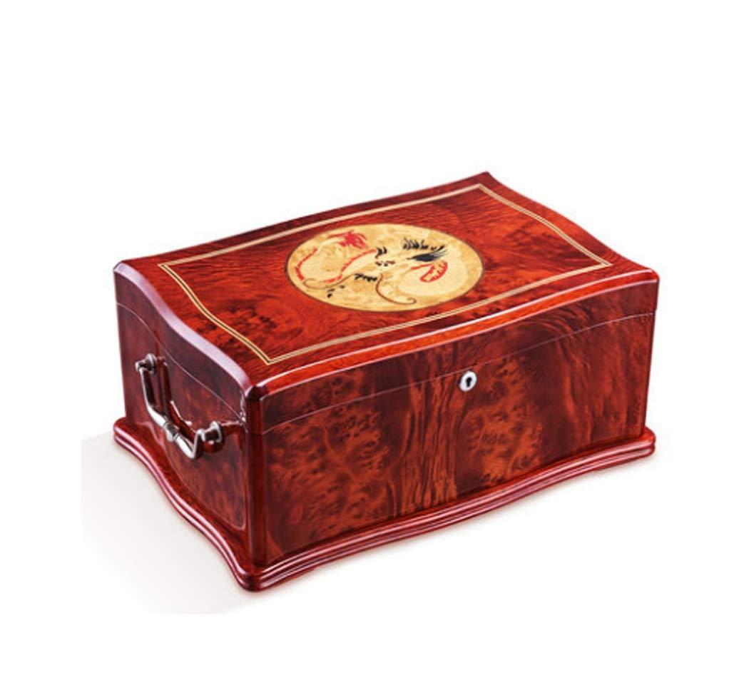 シガーヒュミドールシダー木製ライニングデスクトップ葉巻ヒュミドールダゴンパターントップ100容量シガーボックス感謝祭の日クリスマスギフトの父親への贈り物の考えHusabnd B07KPFBFSB