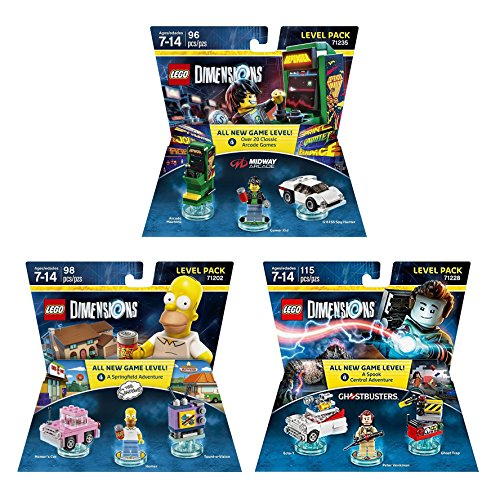 Midway Arcade Level Pack + The Simpsons Homer Level Pack + Ghostbusters Peter Venkman Level Pack - Lego Dimensions (Non Machine Specific) ()