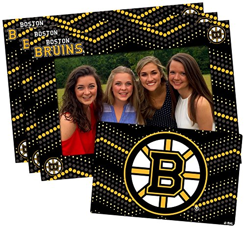 (NHL Boston Bruins Magnetic Frame & Bonus Magnet, 3 Pack, Black, 4-inch by 6-inch)
