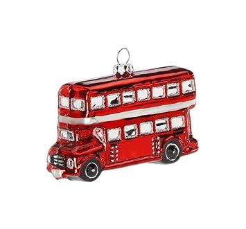 Amazon De Inge Glas Christbaumschmuck Kleiner London Bus 10cm