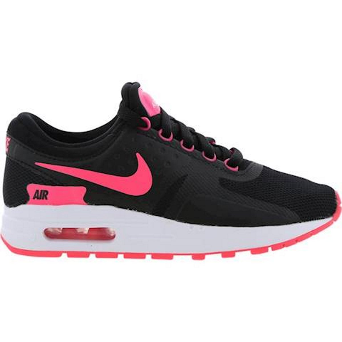 Nike  Air Max Zero Essential GS Running Shoe B079YB8WB7 4.5y|Black/ White/ Pink