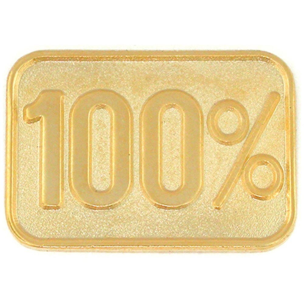 PinMart's 100% Gold Corporate Service Lapel Pin
