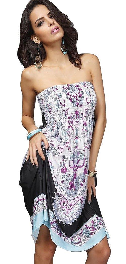 a69d2694e1775 Women s Fashion Strapless Tube Dress Beachwear Beach Cover-up (One Size