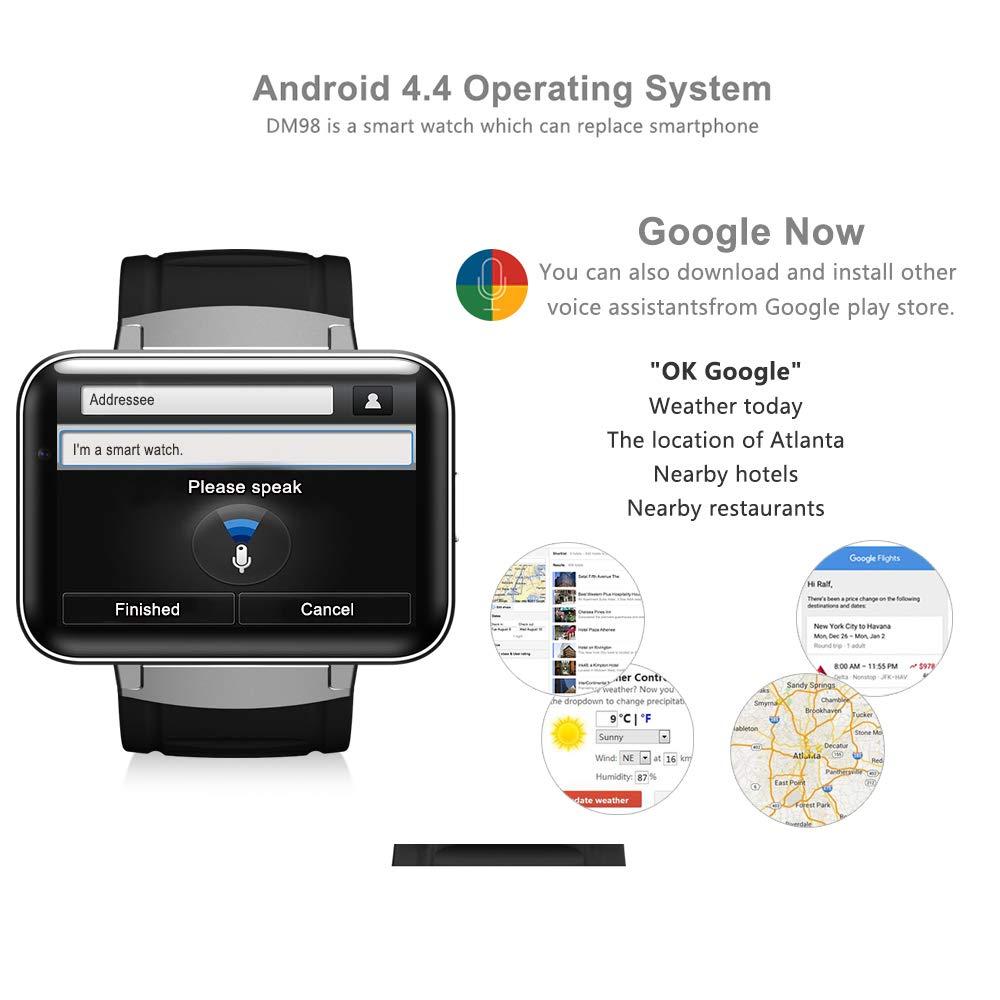 HUIGE Dm98 Android Smart Phone Watch, Adulto WiFi Tarjeta 3G ...