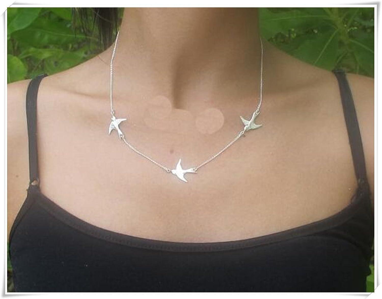Tres pájaros collar