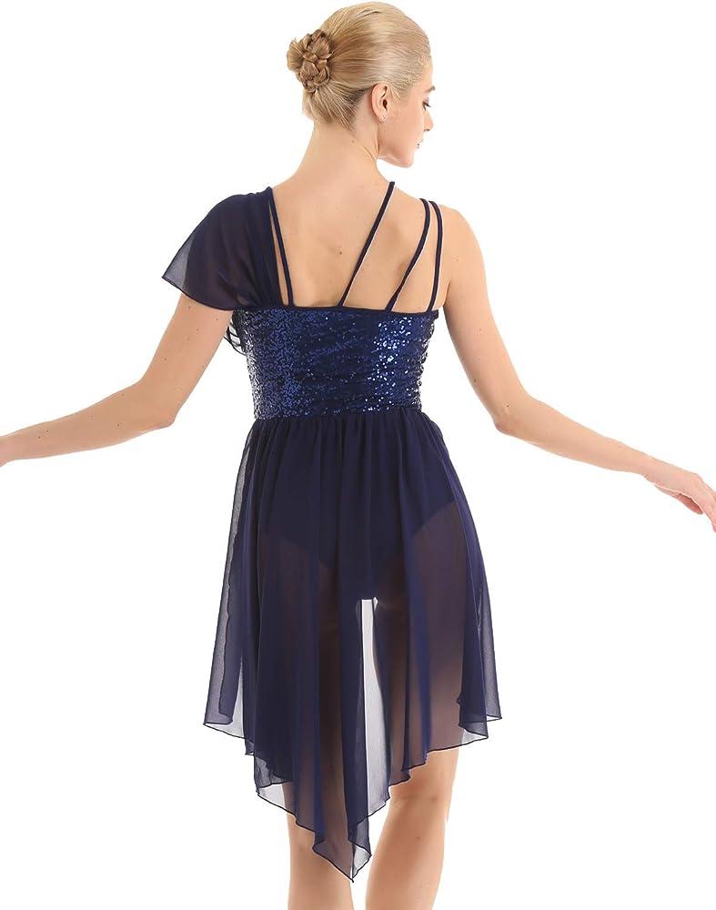 YiZYiF Vestido Danza Contemporánea Mujer Maillot Danza Clásica ...