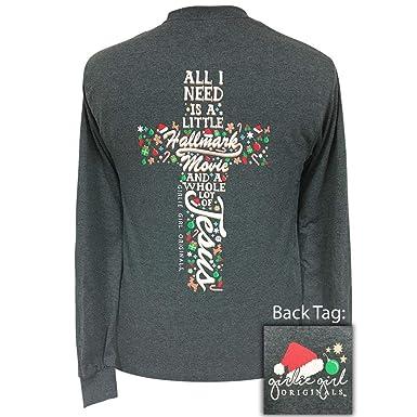 0f3fd043fddd9 Girlie Girls Hallmark and Jesus Christmas Long Sleeve T-Shirt Adult