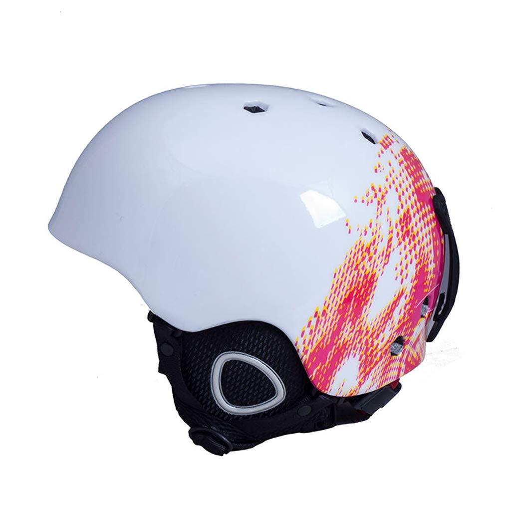BLUEDYYY Skihelm Schnee Helm Skateboard Ski-Schutz-Fahrrad/Skateboard-Helm für Erwachsene Pendler Fahrrad Skate Breathable Bequem für Outdoor-Baseball,D,L