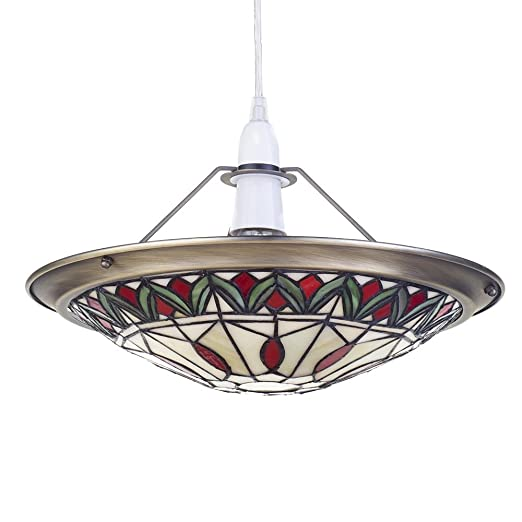 Tiffany style easy fit ceiling lamp shade shallow dish uplighter tiffany style easy fit ceiling lamp shade shallow dish uplighter living room hallway bedroom dining room aloadofball Image collections