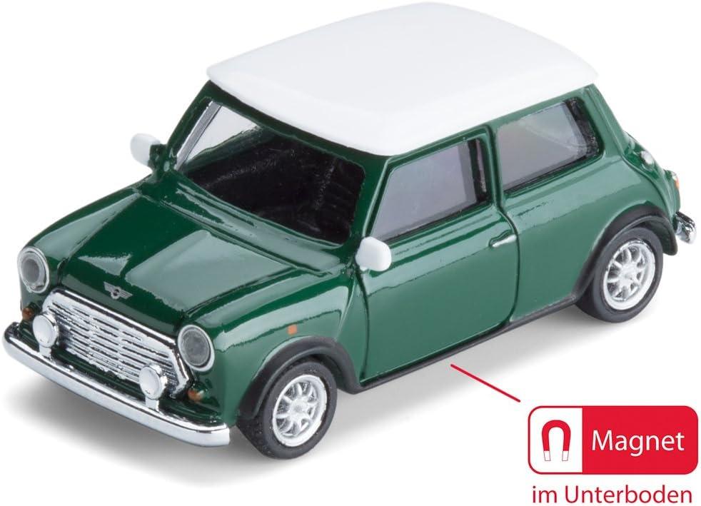 Corpus Delicti Magnetische Mini Pinnwand Mit Modellauto Für Alle Auto Und Oldtimerfans Kultauto Mini Cooper British Racing Green Küche Haushalt