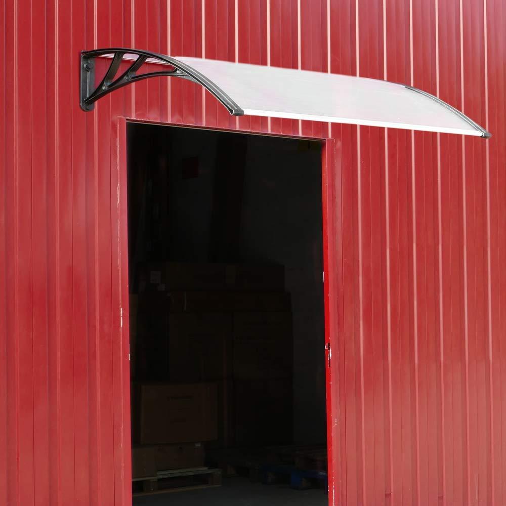 Pultvordach Vordach T/ürdach /Überdachung grau 150x90cm PrimeMatik
