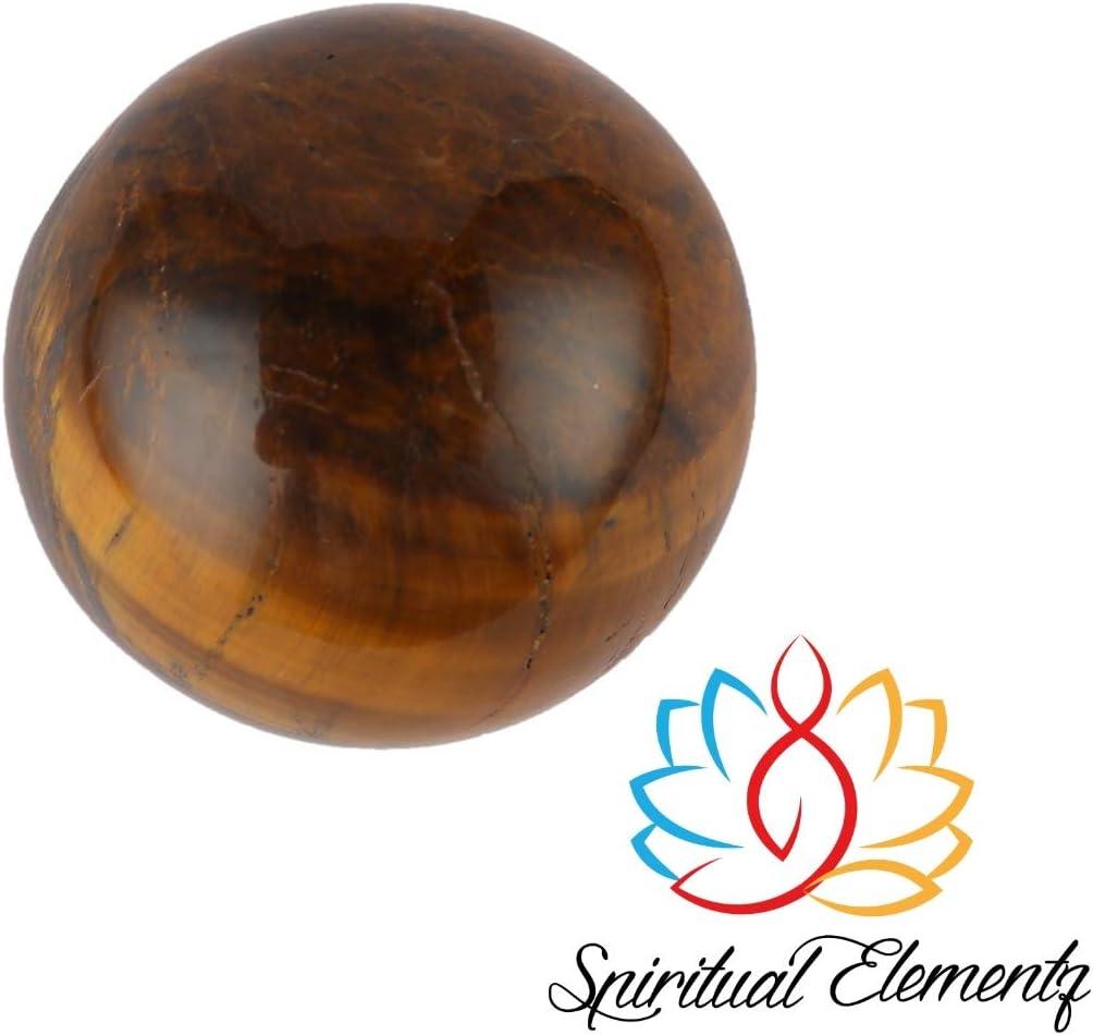 Spiritual Elementz Reiki Healing Tiger Eye Goldstone - Esfera de Piedras Preciosas (45 a 60 mm)