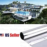 Sugo 3FT x 100FT Premium One Way Mirror Privacy Reflection Window Tint Film Energy Saver 15% VLT