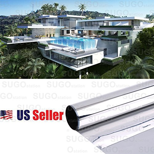 Sugo 3FT x 100FT Premium One Way Mirror Privacy Reflection Window Tint Film Energy Saver 35% VLT by Sugo