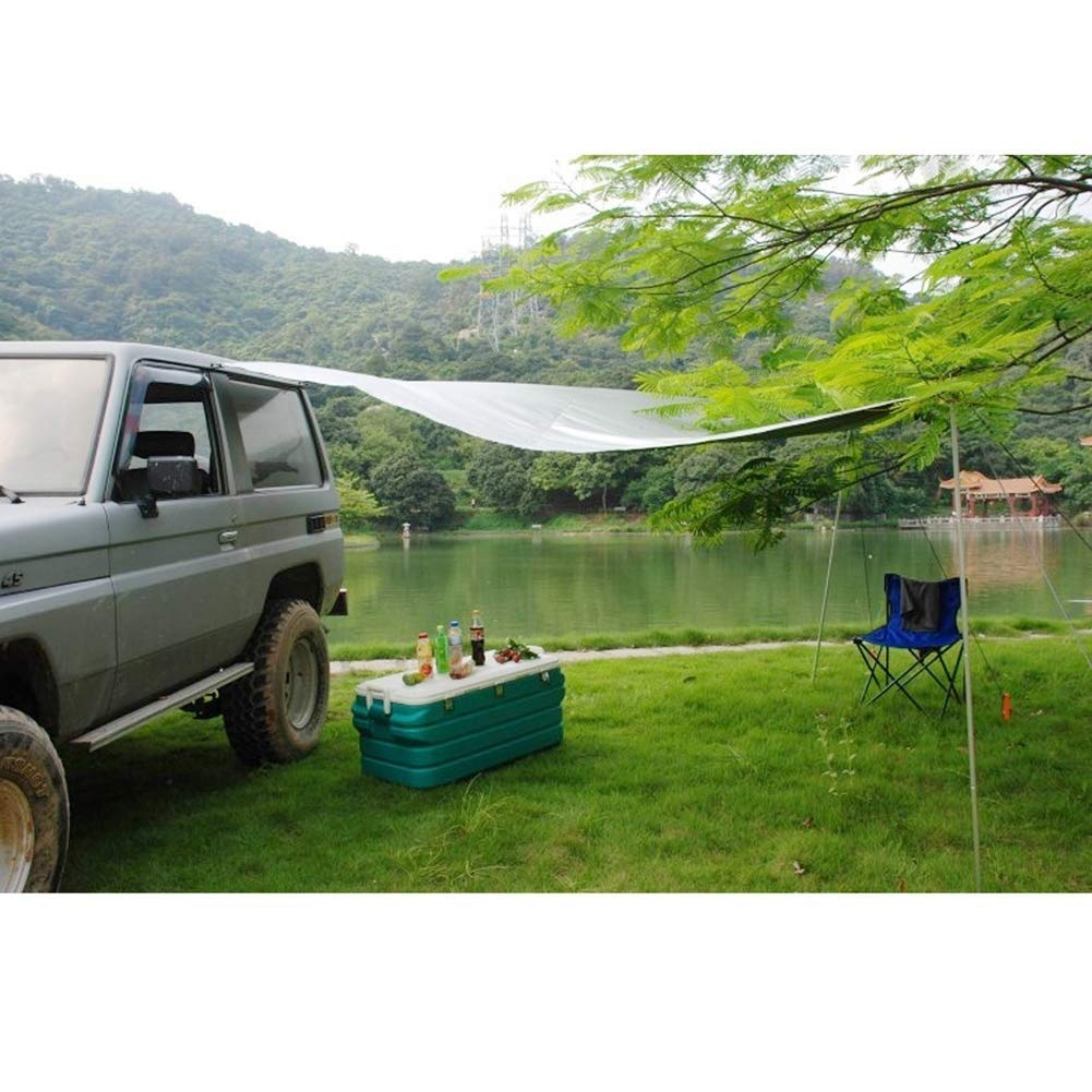 EGECL Car Tent - Folding Sunshade Carports - Anti-UV Roof Top Tent - Car Sun Shelter Awning - Hiking, Climbing, Fishing - Green - 2.8 X 1.8m (Color : Green) by EGECL (Image #7)