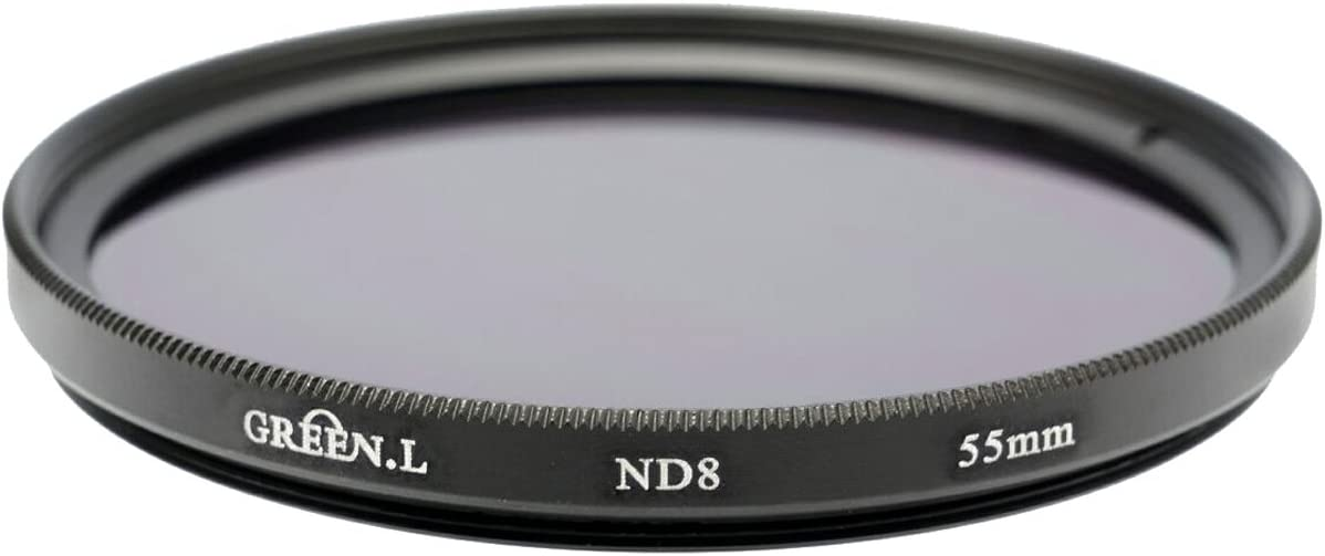 Green L 55mm Neutral Density ND8 Filter for Canon EF-M 18-150mm F3.5-6.3 is STM