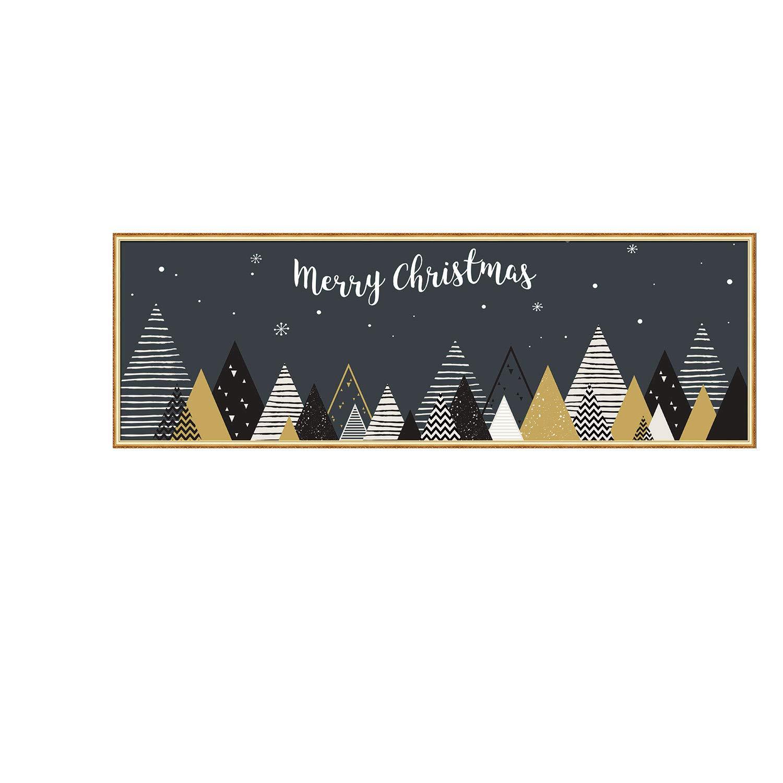 XINDEEK Home Decorative Christmas Wall Sticker Tree Santa Painting Mural Decal(D)