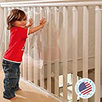Kidkusion Indoor/Outdoor Banister Guard, Clear, 5'