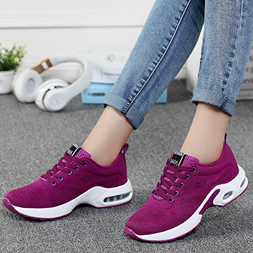 Purple Running Mesh Athletic Shoes Air Fashion Cushion KOUDYEN Shoes Sneakers Women Lightweight Breathable Casual gqwOWAfZ